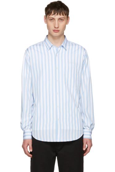 AMI Alexandre Mattiussi - Blue Striped Wide Shirt