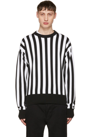 AMI Alexandre Mattiussi - Black & White Striped Sweater