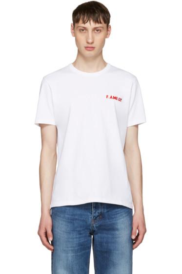 AMI Alexandre Mattiussi - White 'F.Ami.Ly' T-Shirt