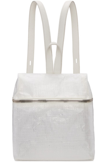 Kara - White Small Tarp Backpack