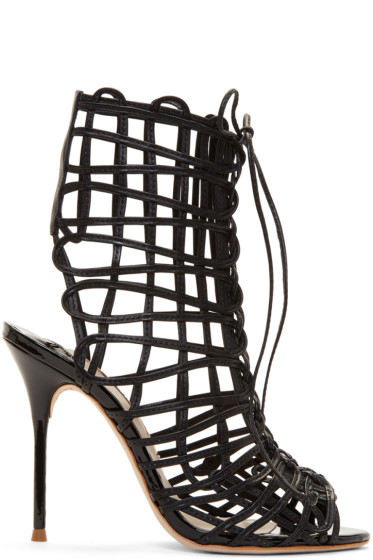 Sophia Webster - Black Delphine Sandals