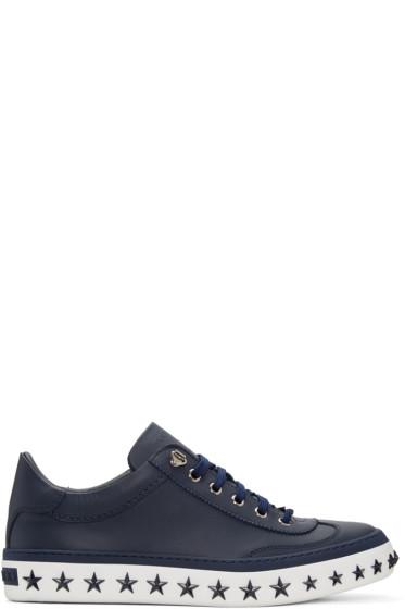 Jimmy Choo - Navy Star Sole Ace Sneakers