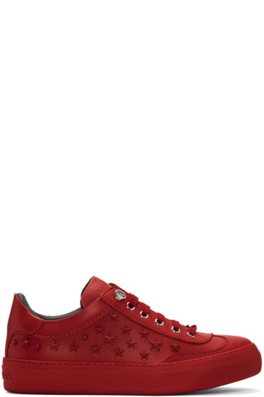 Jimmy Choo - Red Stars Ace Sneakers