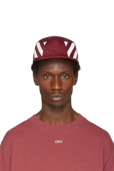 Off-White - Burgundy Diagonals Cap