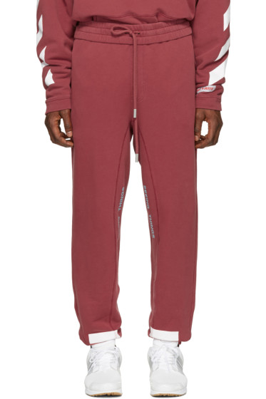 Off-White - Red Diagonal Arrows Lounge Pants