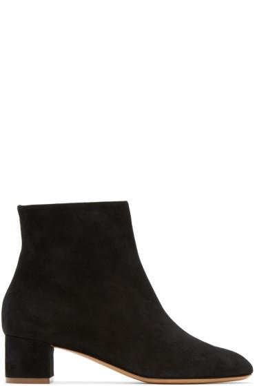 Mansur Gavriel - Black Suede Ankle Boots