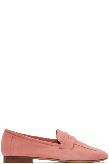 Mansur Gavriel - Pink Suede Classic Loafers