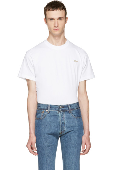 Vetements - White Basic 'Staff' T-Shirt