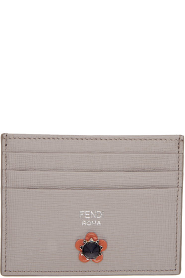 Fendi - Grey Flowerland Card Holder