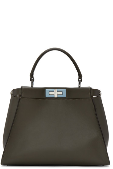 Fendi - Grey Regular Peekaboo Bag