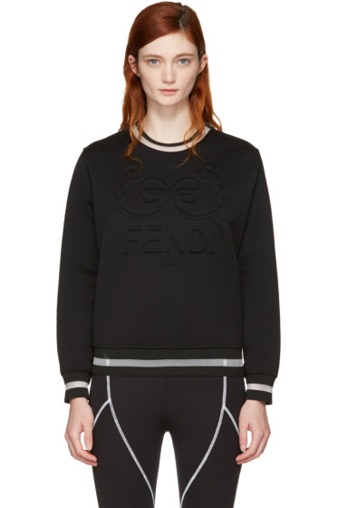 Fendi - Black 'Fendi Roma' Sweatshirt