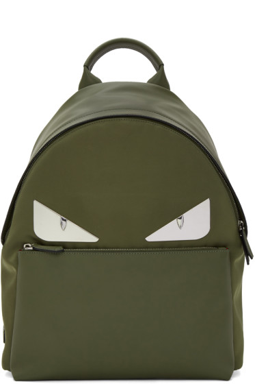 Fendi - Green 'Bag Bugs' Backpack