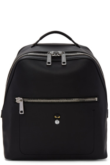 Fendi - Black Leather 'Micro Bugs' Backpack
