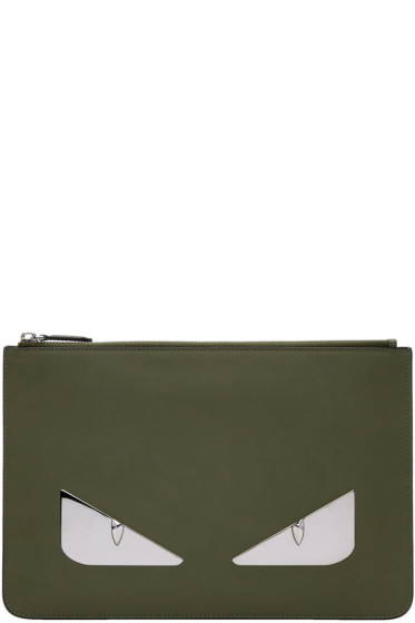 Fendi - Green 'Bag Bugs' Pouch