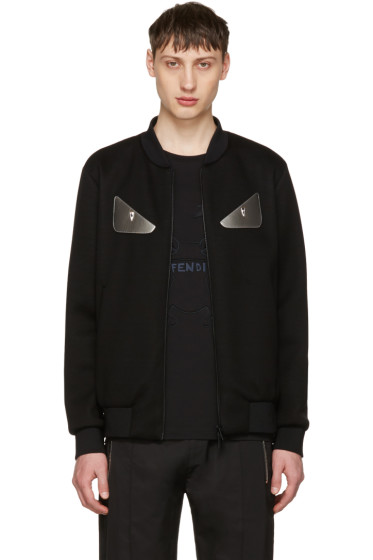 Fendi - Black 'Bag Bugs' Bomber Jacket