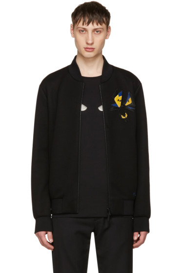 Fendi - Black Butterfleyes Bomber Jacket