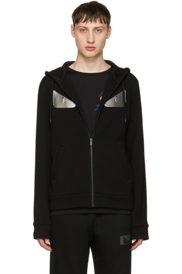 Fendi - Black 'Bag Bugs' Zip Hoodie
