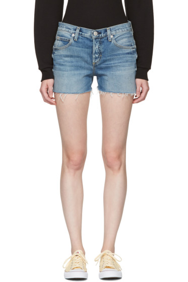 Amo - Blue Denim Tomboy Shorts