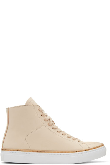 No.288 - Beige Mulberry High-Top Sneakers