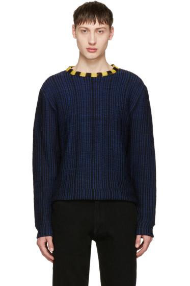 Eckhaus Latta - Navy Wiggly Road Sweater