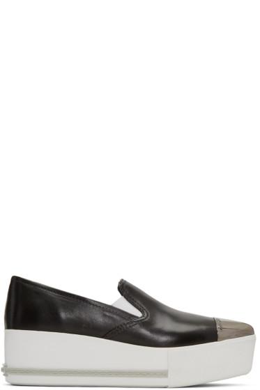 Miu Miu - Black Platform Slip-On Sneakers