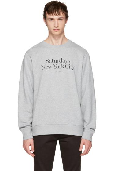 Saturdays NYC - Grey Bowery Miller Standard Sweatshirt