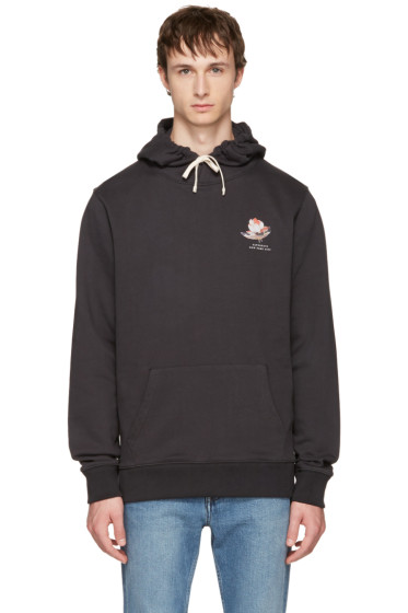 Saturdays NYC - Black Lotus Flower Ditch Hoodie