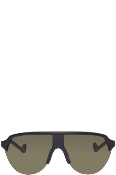 District Vision - ブラック & グリーン ナガタ サングラス