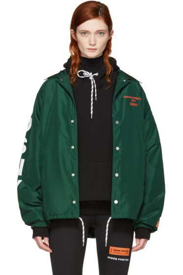Heron Preston - Green DSNY Edition Coach Jacket