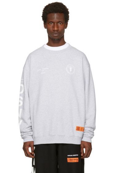 Heron Preston - Grey DSNY Edition 'Uniform' Sweatshirt