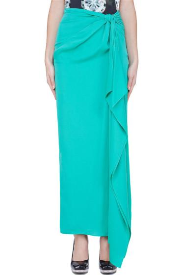 Diane Von Furstenberg - Mint Silk Knotted Copa Skirt
