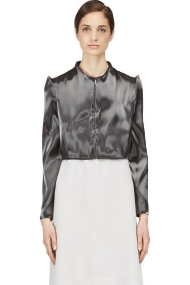 Iris van Herpen - Grey Cropped Liquid Jacket