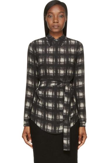 Damir Doma - Black Silk Santolina Shirt