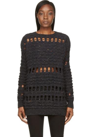 Damir Doma - Midnight Navy Wool Oversized Kodera Sweater