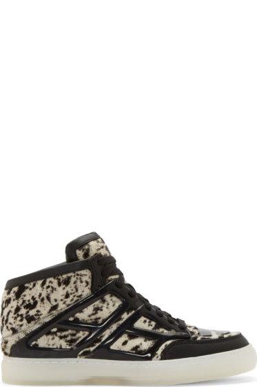 Alejandro Ingelmo - Black & White Calf Hair Tron Sneakers