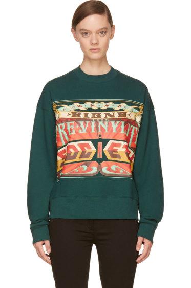 Juun.J - Green 'The Pre-Vinylite Society' Sweatshirt