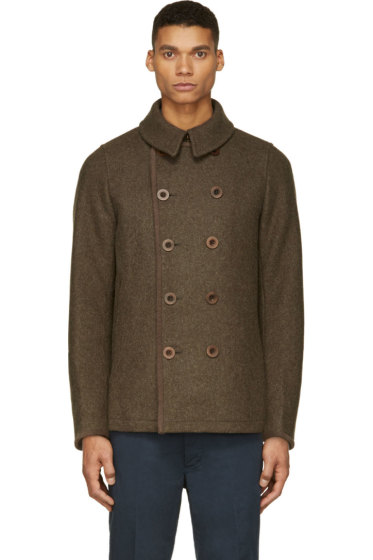 Visvim - Green Wool Lieutenant Matoi Jacket