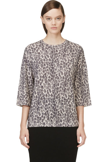 Giambattista Valli - Black Leopard Cashmere Sweater