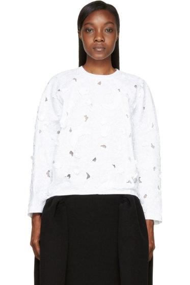 Giambattista Valli - White Flower Cut-Out & Embroidered Shirt