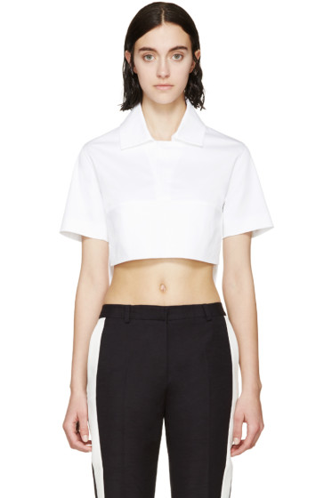 Dsquared2 - White Cropped Polo