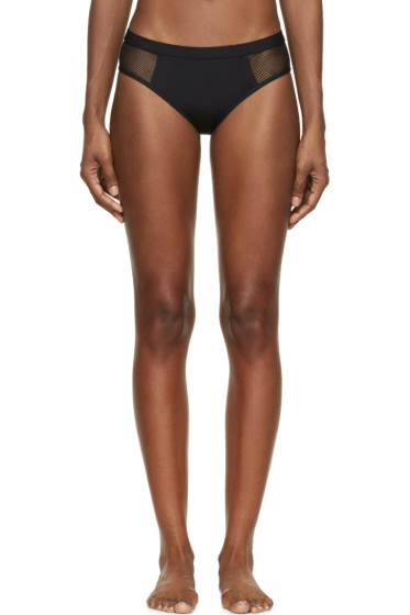 T by Alexander Wang - Black Mesh Panel Bikini Bottoms