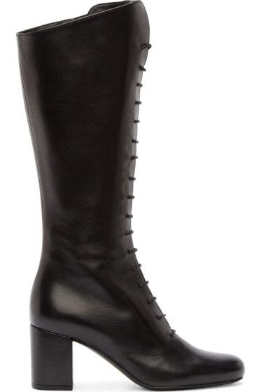 Saint Laurent - Black Leather Babies High Boots