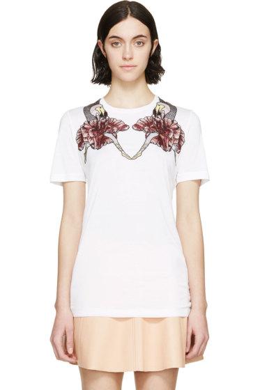 Mary Katrantzou - White Dodo Embroidered T-Shirt