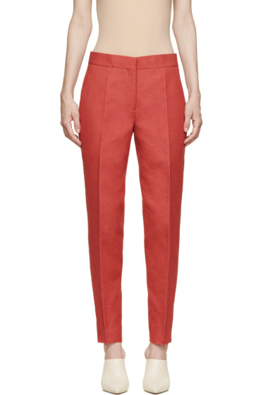 Calvin Klein Collection - Red Belfair Cropped Trousers