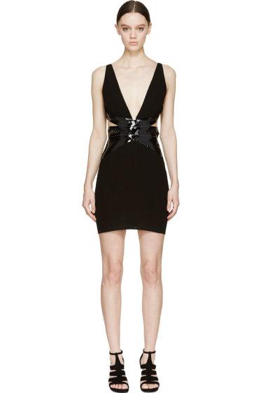 Iris van Herpen - Black Laser-Cut Waspie Dress
