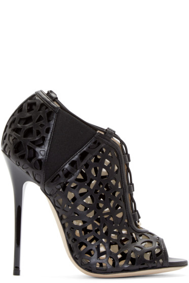 Jimmy Choo - Black Cut-Out Trace Ankle Boots