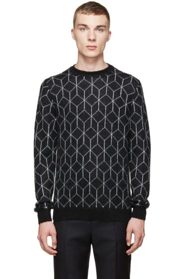 Christopher Kane - Black Mohair 3D Cube Sweater