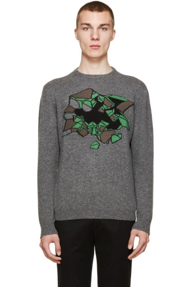 Christopher Kane - Grey Mélange Wallbreak Sweater
