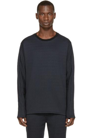 3.1 Phillip Lim -  Navy & Black Brocade Pullover