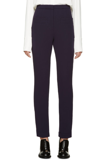 Carven - Indigo Double Crepe Trousers